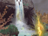 Kato's blood. The apparition of Myko in Crying Skull Waterfall